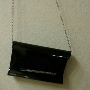 Never Used Black Patent Bag
